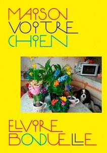 Maison Voiture Chien Fleurs