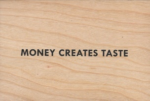 Money Creates Taste Wooden Postcard