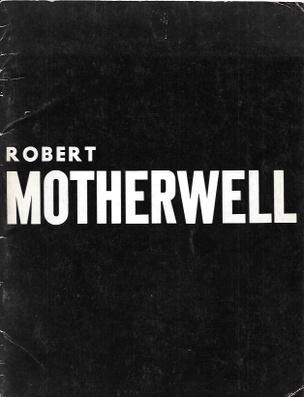 Robert Motherwell Exhibition Catalog