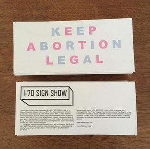 KEEP ABORTION LEGAL Bumper Sticker
