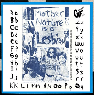 Mother Nature Is a Lesbian Sticker