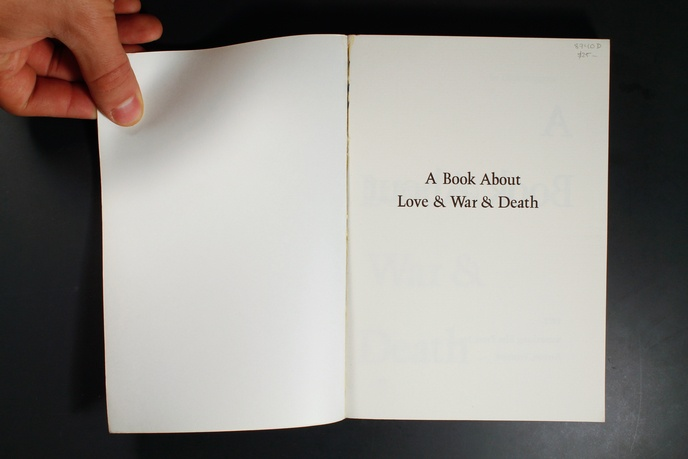A Book About Love & War & Death thumbnail 2