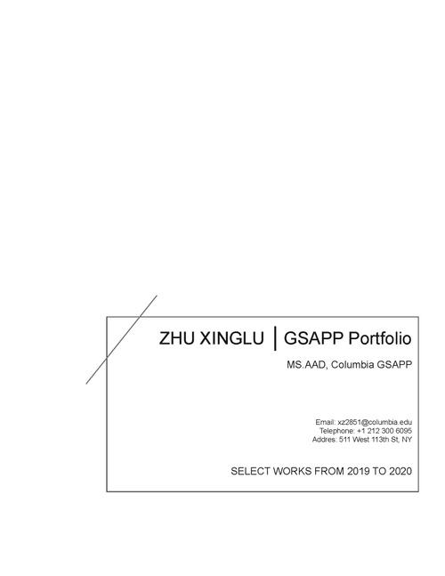 AAD ZhuXinglu SP20 Portfolio.pdf_P1_cover.jpg