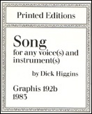 Song for Any Voice(s) and Instrument(s) : Graphis 192b