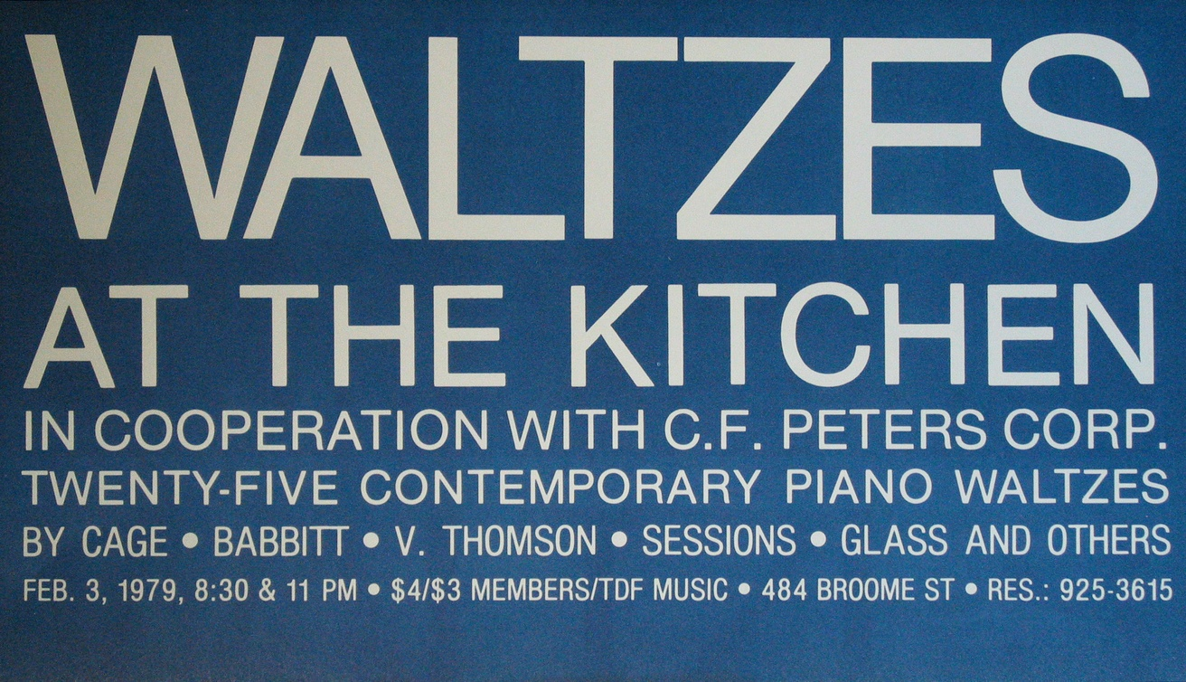 Waltzes at the Kitchen: Twenty-Five Contemporary Piano Waltzes, February 3, 1979 [The Kitchen Posters]
