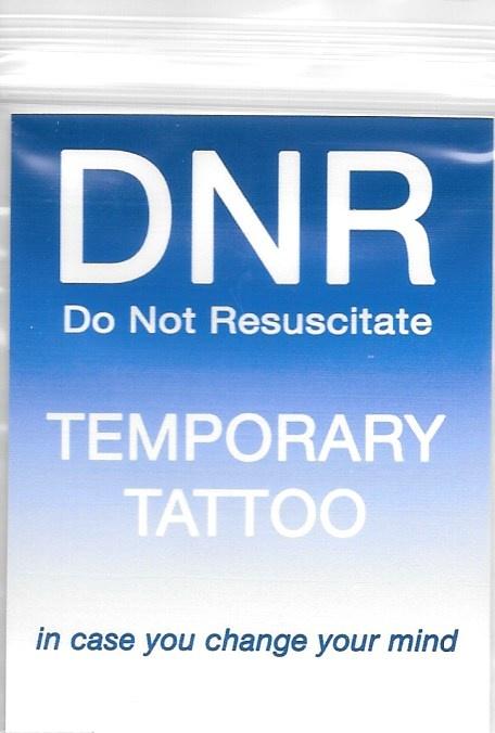 DNR Temporary Tattoo