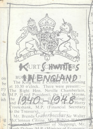 Kurt Schwitters in England 1940-1948