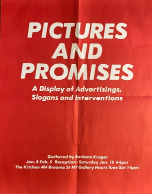 Pictures and Promises: The Kitchen, New York, January 8-February 5, 1981 [Poster]