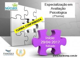 Especialização em Avaliação Psicológica (Pós-Graduação Lato Sensu)  RECONHECIDO PELO MEC