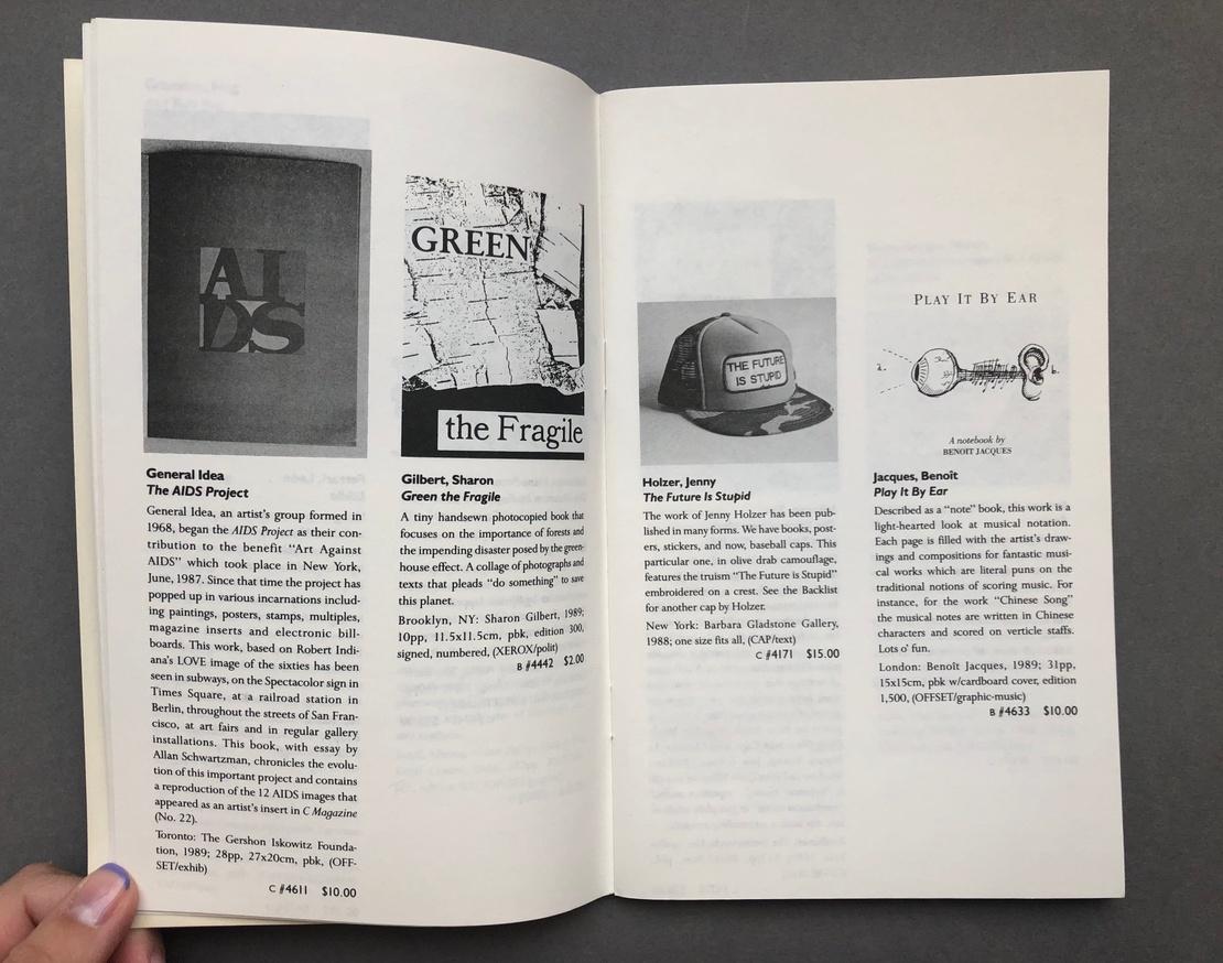 Printed Matter 1990 Spring Catalog thumbnail 5