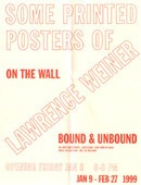 Some Printed Posters of Lawrence Weiner (Folded)