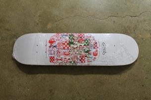 Gary Panter Skateboard: White/Blue