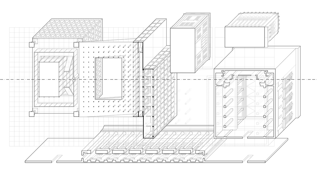 Axonometric drawing by Alexander Stagge and Chad Greenlee.