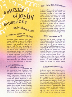 A Survey of Joyful Sensations
