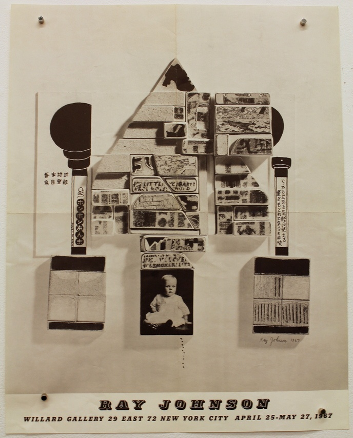 Ray Johnson : Willard Gallery, 29 E. 72 St New York, April 25 - May 27 1967