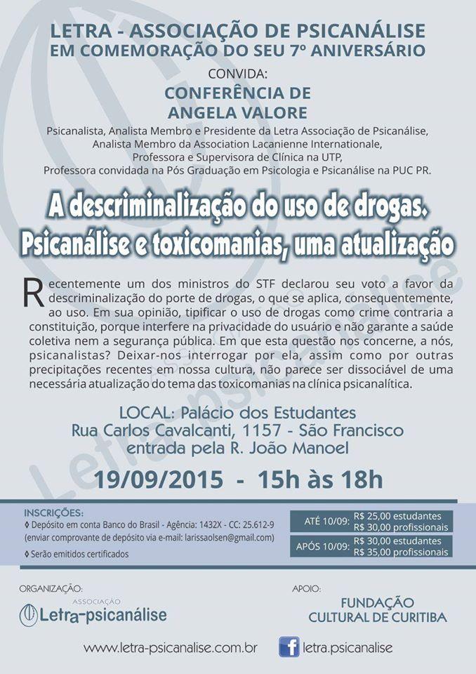 Descriminalização do uso de drogas: psicanálise e toximania, uma atualização