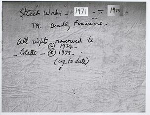 Colette: Street Works, 1971-1975