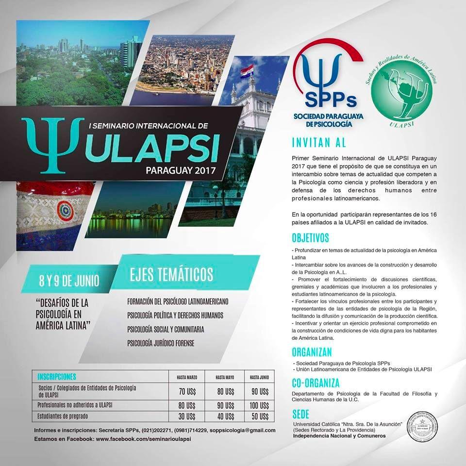 I Seminario Internacional Ulapsi - Paraguay 2017