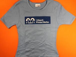 """I (heart) Printed Matter"" T-Shirt / Girl's Baby T"