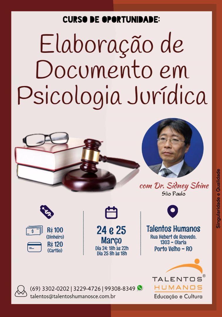 Curso - Elaboração de documentos em psicologia jurídica