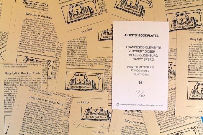 Robert Gober - Bookplate - Printed Matter