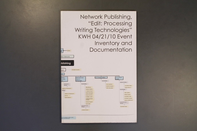 """Network Publishing, """"Edit: Processing Writing Technologies"""" KWH 04/21/10 Event Inventory and Documentation  thumbnail 5"""