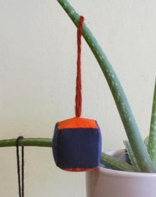 Soft Geometry Cube Ornament