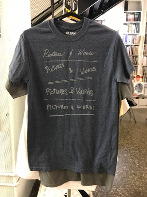 Pictures & Words T-Shirt in Blue [Small]