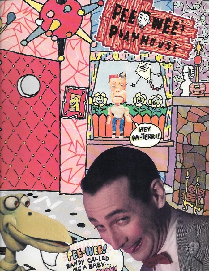 Pee-Wee's Playhouse Folder with Coloring Book Pages