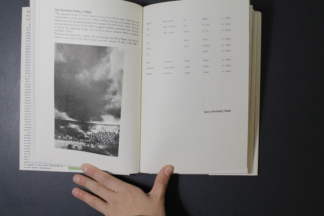 An Anthology of Concrete Poetry [first edition, hardback] thumbnail 4