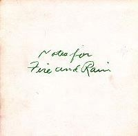 Notes for Fire and Rain