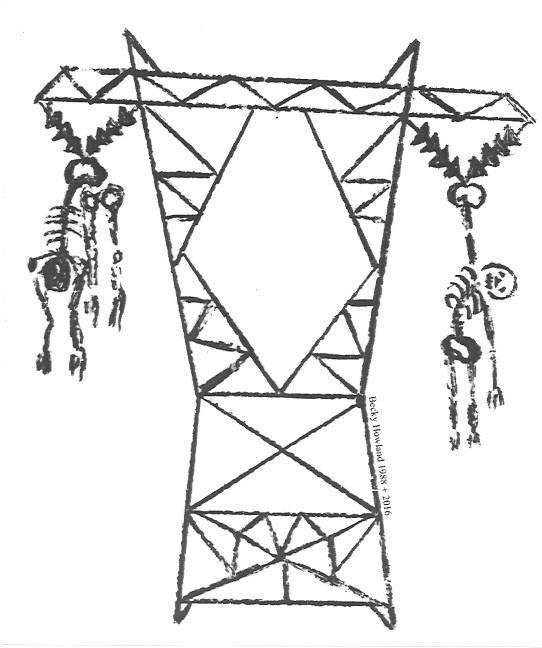 Transmission Tower Sticker [Large]