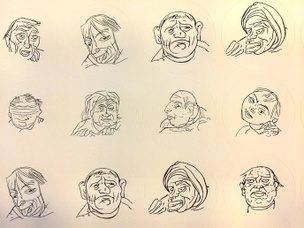 Faces Sticker Sheet
