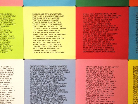 Jenny Holzer & Felix Gonzalez-Torres - Poster works on display