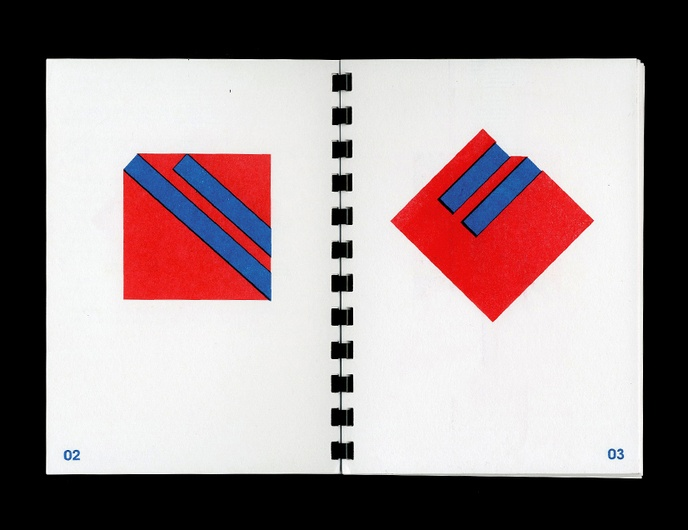 1970-1977 : 20 Geometric Abstractions in Red and Blue from Daniel Peralta's Sketchbook thumbnail 4