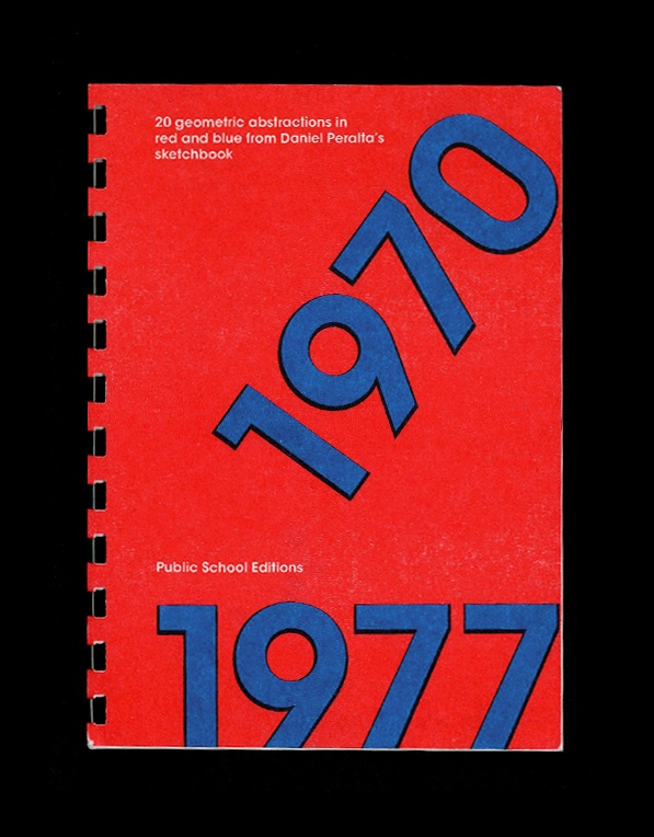 1970-1977 : 20 Geometric Abstractions in Red and Blue from Daniel Peralta's Sketchbook thumbnail 2