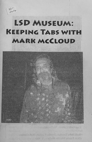 LSD Museum zine with Mark McCloud