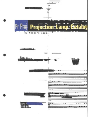 Projection Lamp Catalog