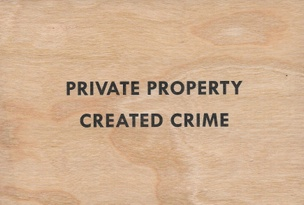 Private Property Created Crime Wooden Postcard