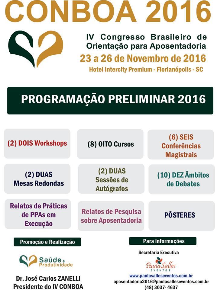 IV Congresso Brasileiro de Orientação para Aposentadoria