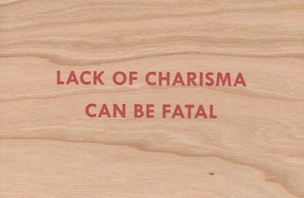 Lack of Charisma Can Be Fatal Wooden Postcard