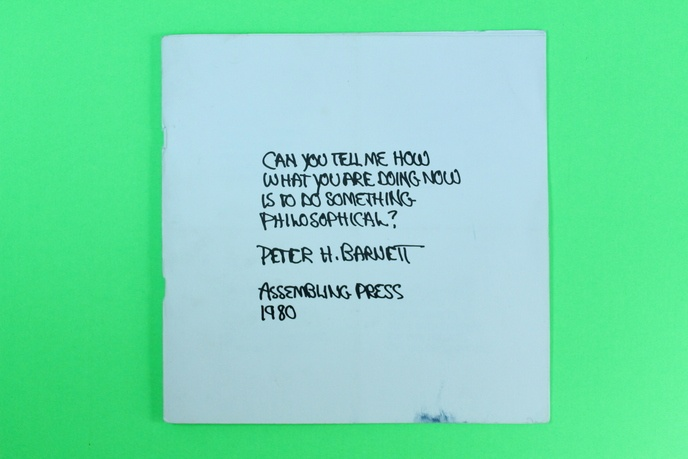 Can You Tell Me How What You Are Doing Now Is To Do Something Philosophical?
