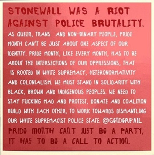 Stonewall was a Riot: On Police Brutality Sticker