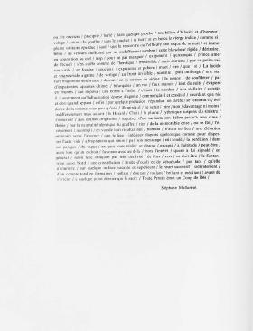 Un Coup de dés Jamais n'Abolira le Hasard : Sculpture thumbnail 3