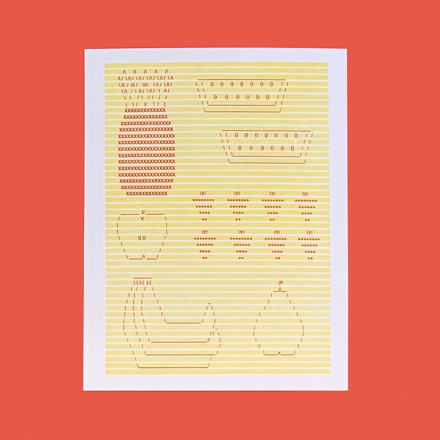 Fruity Postcard (Red + Yellow)