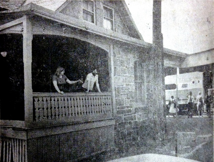 FIG. 4: Tenants of the Penn Central station house in West Mount Airy before the City of Philadelphia legalized homesteading in 1977. Image courtesy of the Philadelphia Inquirer.
