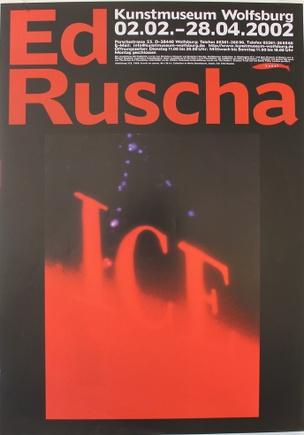 Ed Ruscha ICE Poster