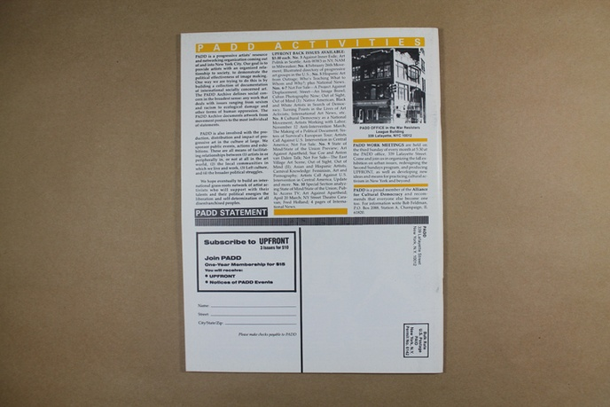 Upfront : A Publication of Political Art Documentation / Distribution thumbnail 2