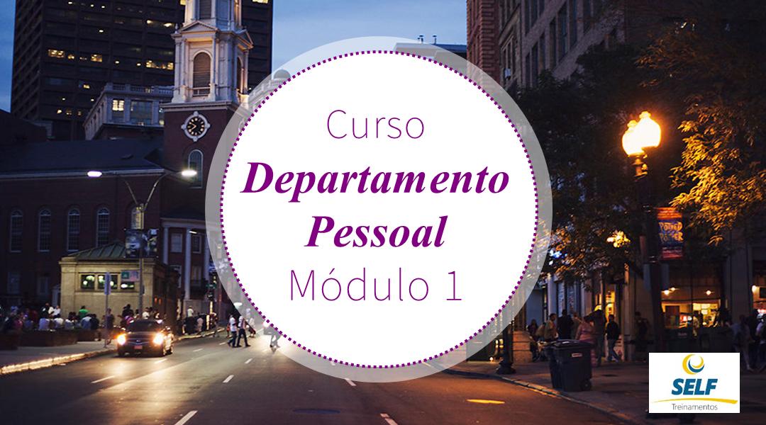 CURSO ONLINE DEPARTAMENTO PESSOAL