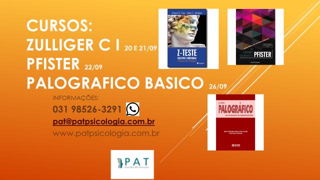 Curso de testes Psicologicos:  Zulliger Coletivo e Individual, Pfister e Palografico